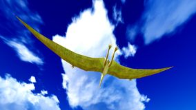 Flying pterodactyl Royalty Free Stock Images