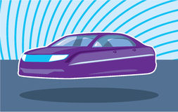 Flying purple Car Royalty Free Stock Photos