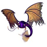 Flying purple fish Stock Images