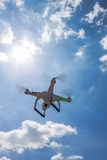 Flying quad copter Stock Photo