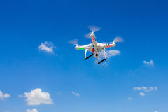 Flying quad copter Royalty Free Stock Photo