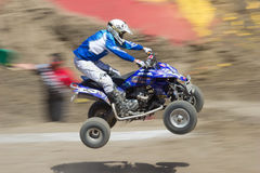 A Flying Quad Racer Stock Image