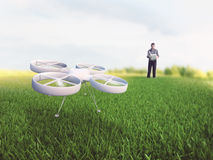 Flying a quadcopter Royalty Free Stock Image