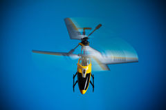 Flying RC helicopter Royalty Free Stock Photo