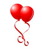 Flying Red Balloons Royalty Free Stock Image