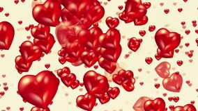 Flying red hearts royalty free illustration