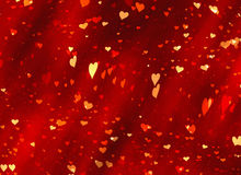 Flying red hearts backgrounds of Valentine's day. Love texture Stock Photography