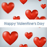 Flying red hearts Happy Valentine's Day, great for. Your design Stock Photography