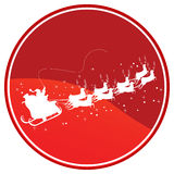 Flying Reindeer. Warning sign, isolated object over white background Royalty Free Stock Images