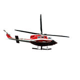 Flying rescue helicopter Stock Images