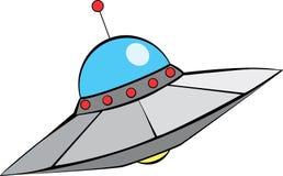 flying retro saucer διανυσματική απεικόνιση