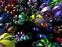 Flying ribbons generated 3D background Royalty Free Stock Image