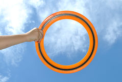 Flying ring Royalty Free Stock Images