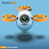 Flying Robot Model with Propellers Stock Photos