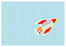 Flying rocket Royalty Free Stock Photos
