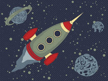 Flying rocket Royalty Free Stock Images