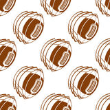 Flying rugby balls seamless pattern Stock Photo