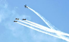 Thermal Air Show: Missing Man Formation Royalty Free Stock Image