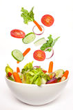 Flying salad Royalty Free Stock Photos