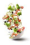 Flying Salad Isloated On White Stock Image
