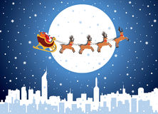 Flying santa Stock Images