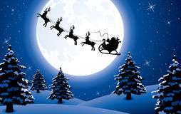 Flying santa Stock Photo