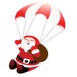 Flying santa Stock Image