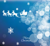Flying Santa Background Stock Images
