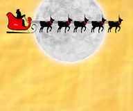 Flying Santa and Reindeer Stock Image