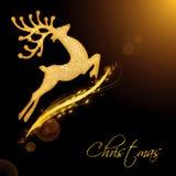 Flying Santa's reindeer Stock Images