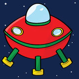 Flying saucer Royalty Free Stock Photos