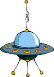 Flying saucer. A flying saucer on a white background, vector royalty free illustration