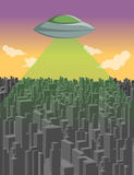 Flying saucer Stock Image