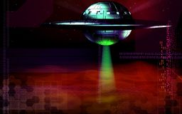 Flying saucer Royalty Free Stock Photography