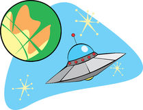 Flying Saucer from Mars royalty free illustration
