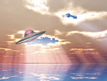 Flying saucer Stock Photography