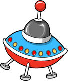 Flying Saucer Vector illustration Royalty Free Stock Photo