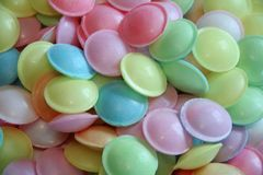 Flying saucers. Tasty sweets in the shape of flying saucers stock images