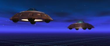 flying saucers Στοκ Φωτογραφία