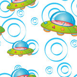 Flying saucers. Illustration of a flying saucers on a white background vector illustration