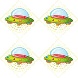 Flying saucers Stock Image