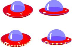 Flying saucers. On white background royalty free illustration