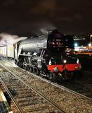 Flying Scotsman in Blackburn Station. 6th Feb on firt Mainline run royalty free stock photos