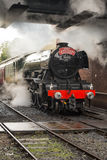 The Flying Scotsman at Bury Station royalty free stock image
