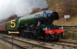 Flying Scotsman. On the climb into Goathland stock images