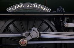 Flying Scotsman. Close up of name plate royalty free stock image