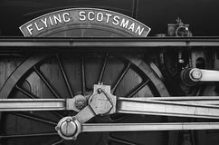 Flying Scotsman. Close up of name plate royalty free stock images