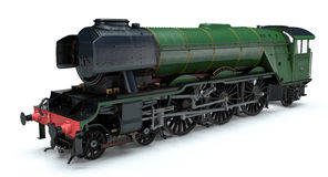 Flying Scotsman. 3D Model of The Flying Scotsman royalty free stock images