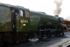 Flying Scotsman. The famous Flying Scotsman at Minehead Station stock photography
