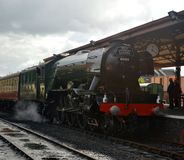 Flying Scotsman. When on West Somerset Railway royalty free stock photo